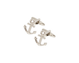 Cufflinks - Anchor Shaped Sterling Silver