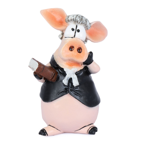 Lawyer Piggy Figurine | Advocate Accessories