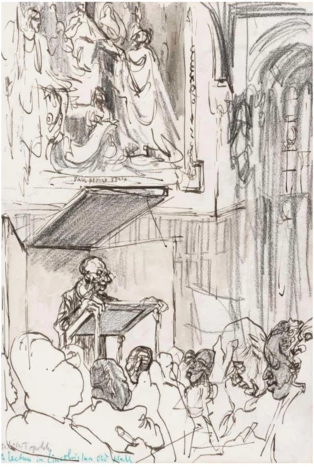 Topolski - A lecture in Lincoln's Inn Old Hall