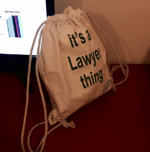 Canvas Bag - 'it`s a Lawyer Thing'