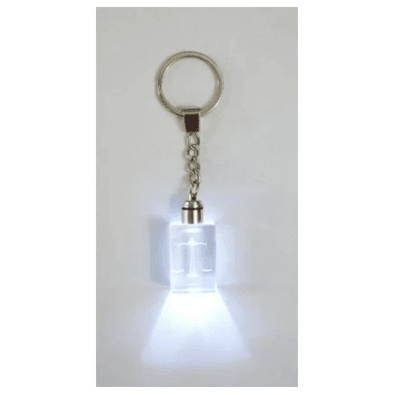 Keyring - Scales of Justice with LED Light