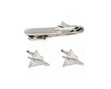 Cufflinks - Airplane cuffs with a Tie clip Set