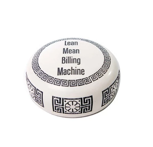 Lean Mean Billing Machine Desk Accessory, paperweight