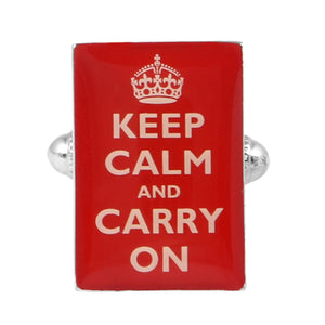 Cufflinks - Keep Calm & Carry On