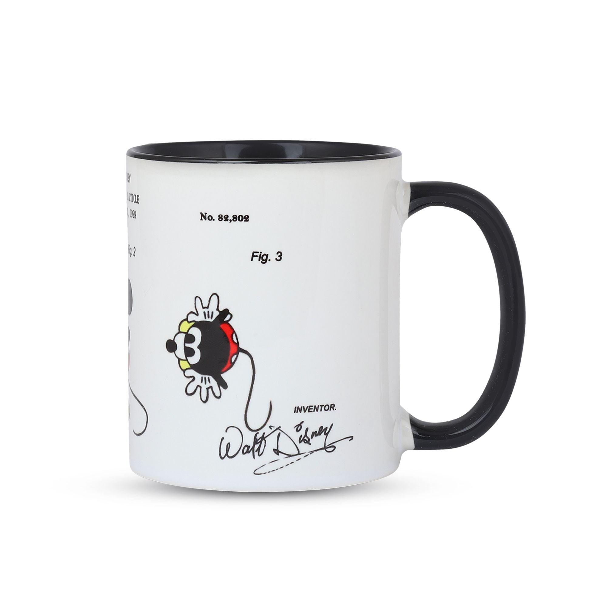 side View Mickey Mouse Disney Patent Mug