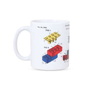 Side View of Lego Patent Mug