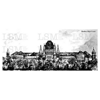 Print of the Bombay High Court - B&W