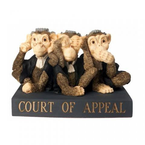 Court of Appeal Monkeys figurine