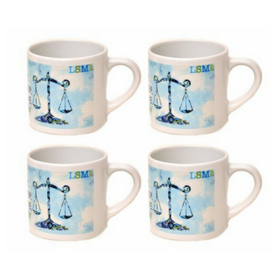 Mug - Eat, Sleep, Love, Law 6 oz - set of 4