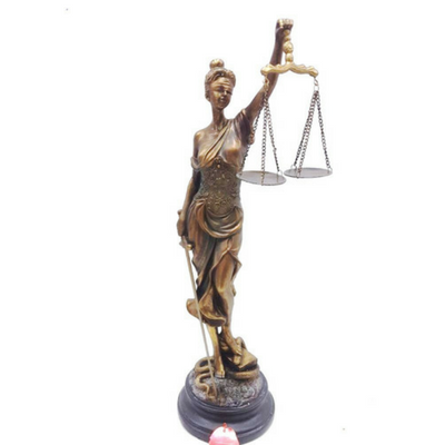 Figurine - Lady of Justice Cold Cast Bronze