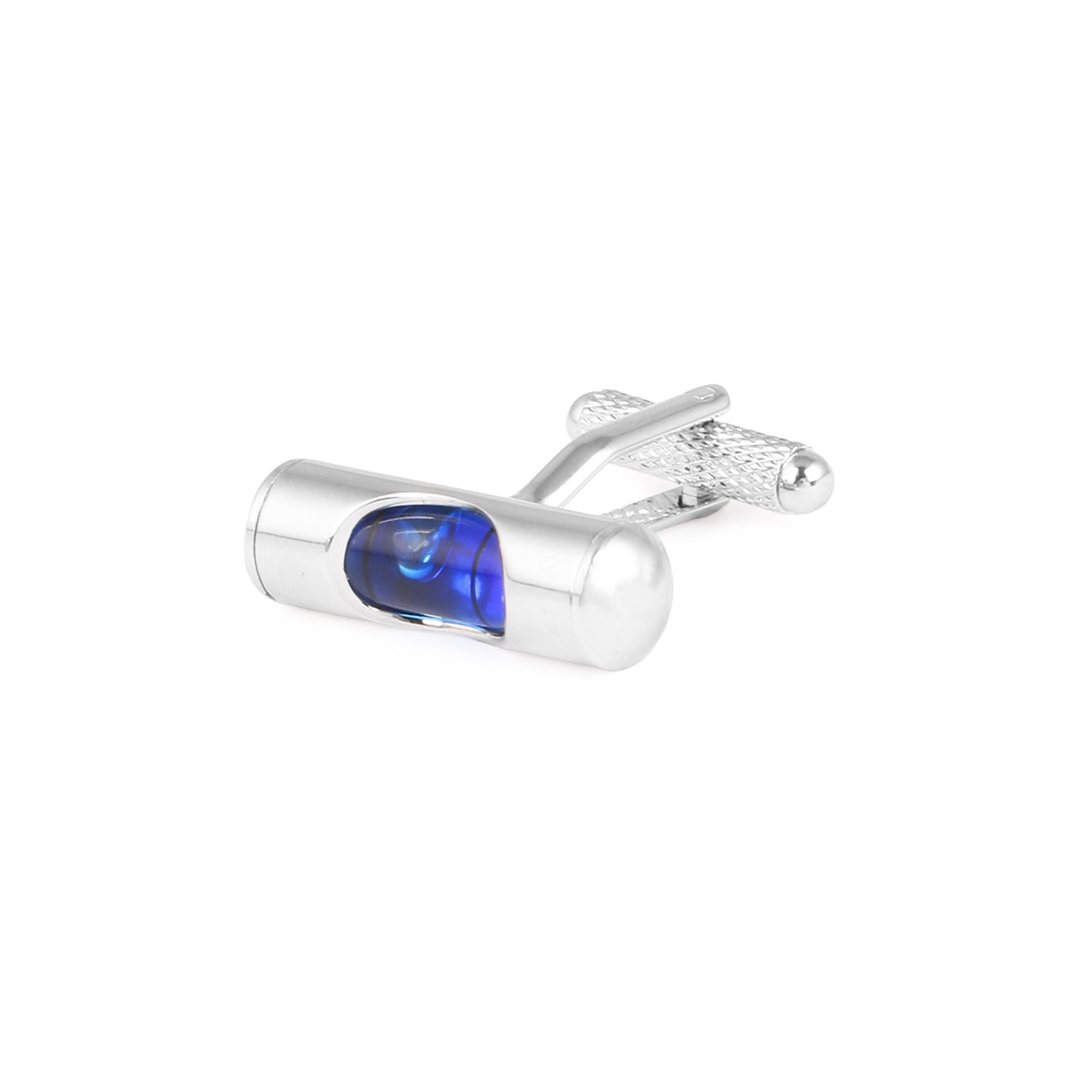 Cufflinks - Blue Spirit Level Cuffs