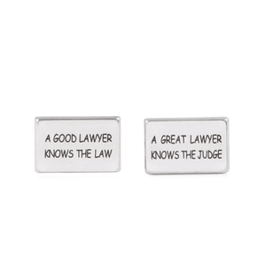 A Good Lawyer Knows The Law, A Great Lawyer Knows The Judge Cufflinks