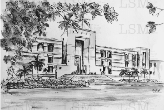 Print of the Gujarat High Court - B&W