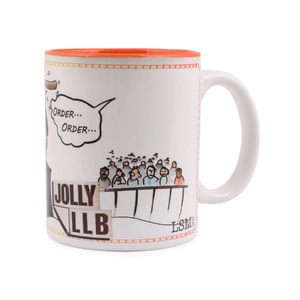 Parody Jolly LLB, Bollywood Mug, Courtroom Drama, Lawyer Gifts