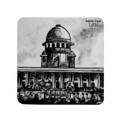 Coasters - Supreme Court in B&W - Set of 4