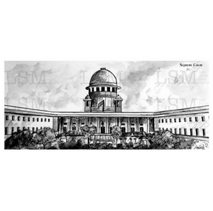 Print of the Supreme Court of India - B&W