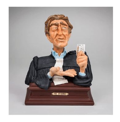 Lawyer bust- The Evidence! Figurine