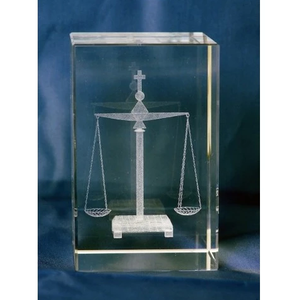 Paper Weight - Scales of Justice - Glass