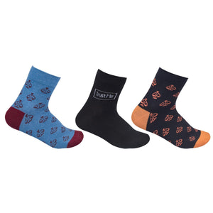 The Sassy Solicitor Colourful Socks, Pack of 3, Ankle Length