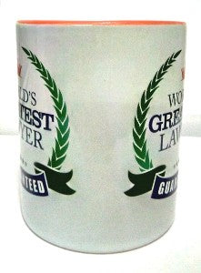 World`s Greatest Lawyer mug - Orange inside - Law Suits and More