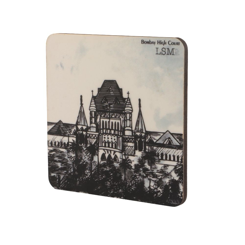 Coasters - Bombay High Court in B&W - Set of 4