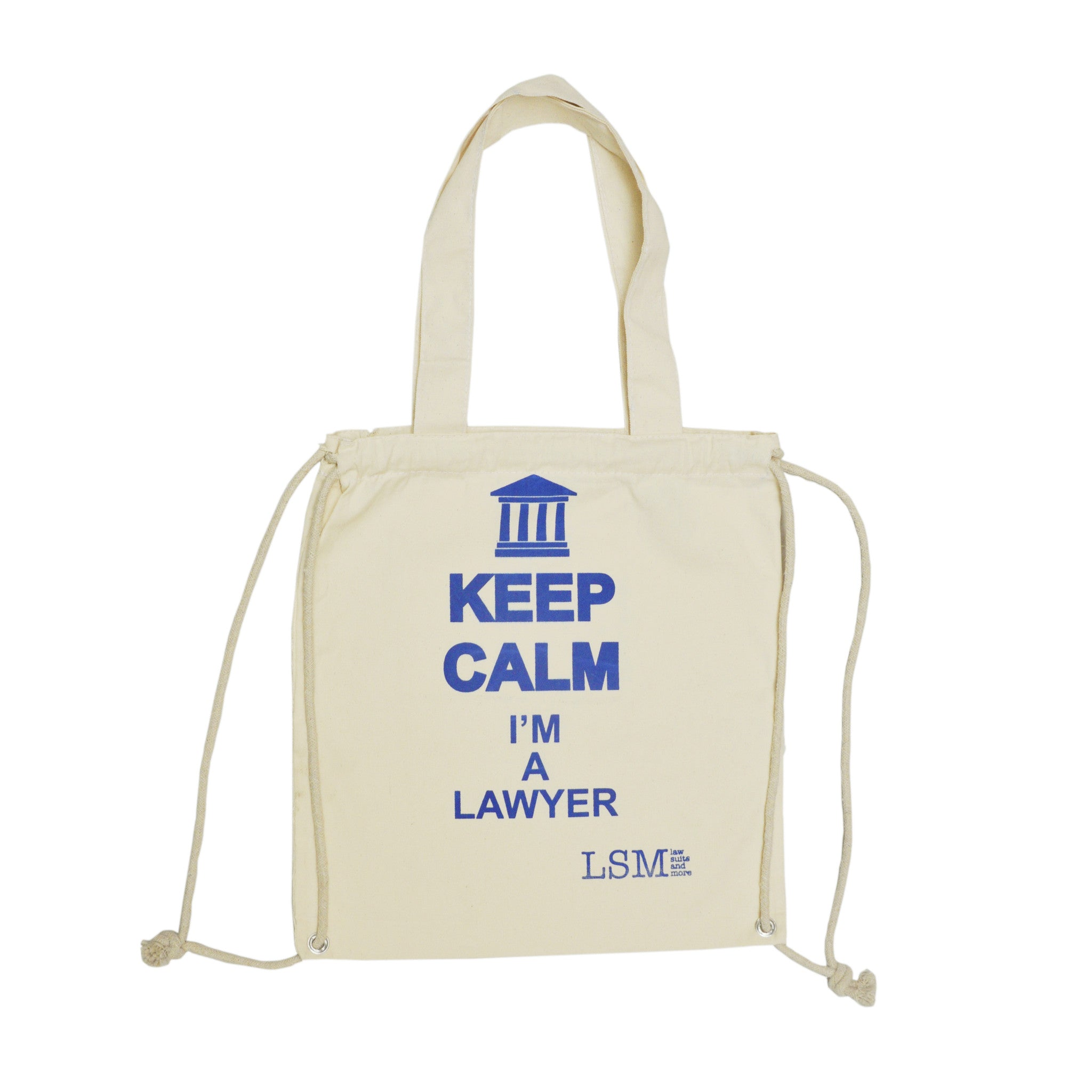 KEEP CALM I`m a Lawyer Flawed Canvas Bag - Law Suits and More