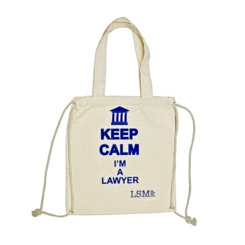 KEEP CALM I`m a Lawyer Canvas Bag - Law Suits and More