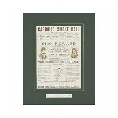 Poster - Carbolic Smoke Ball Advertisement