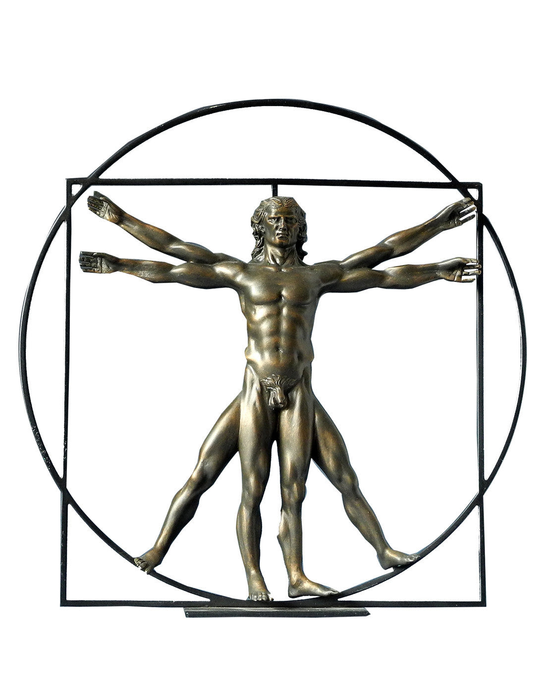 Da Vinci The Vitruvian Man (Bronze) - Law Suits and More