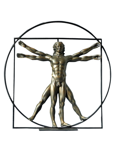 Da Vinci The Vitruvian Man (Bronze)