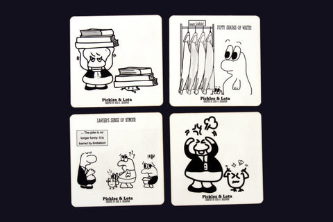 The Pickles & Lota Set of 4 Coasters