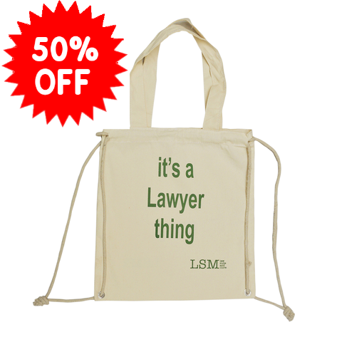 'it`s a Lawyer thing' Flawed Canvas Bag