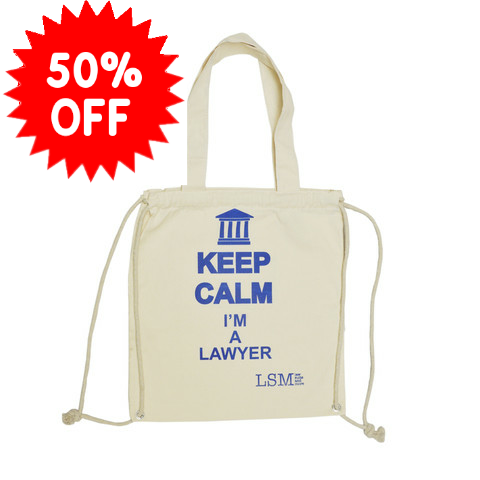 KEEP CALM I`m a Lawyer Flawed Canvas Bag
