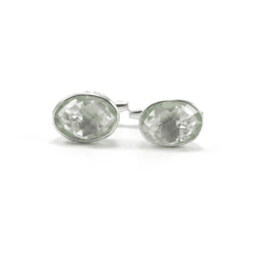 Cufflinks - Green Amethyst