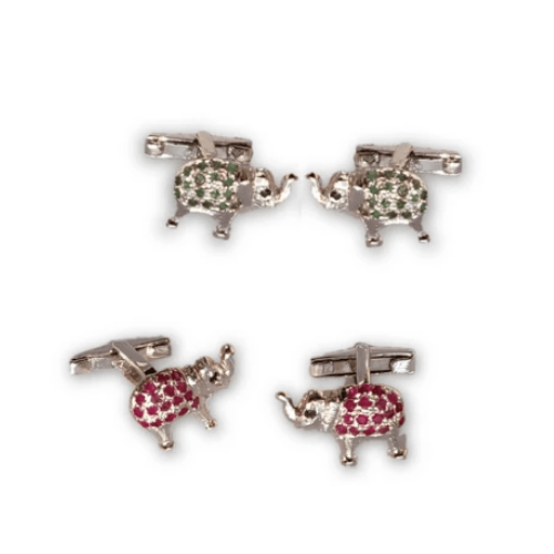 Cufflinks - Studded Elephants