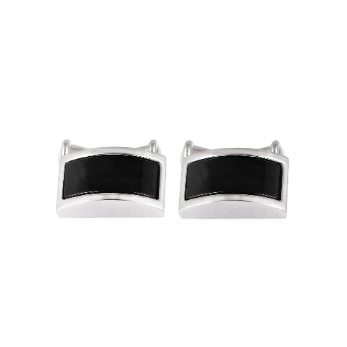 Black & Silver Chain Link Cufflinks