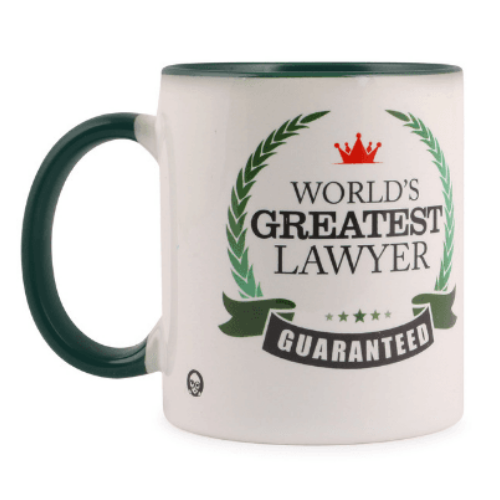 Mug - World`s Greatest Lawyer - Green inside