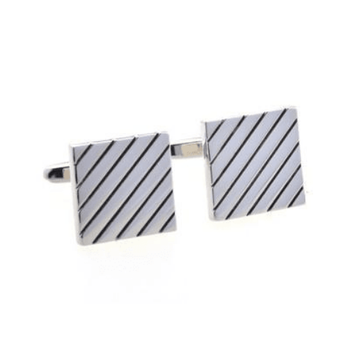 Cufflinks - Square Stripe Classic