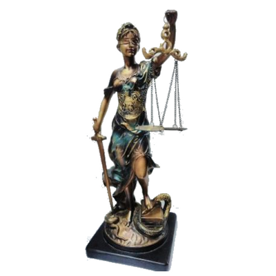 Lady of Justice Faux Bronze - Figurine