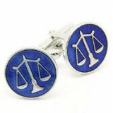 Blue Enamel Cufflinks - Law Suits and More