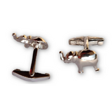 Cufflinks - Elephant - Sterling Silver