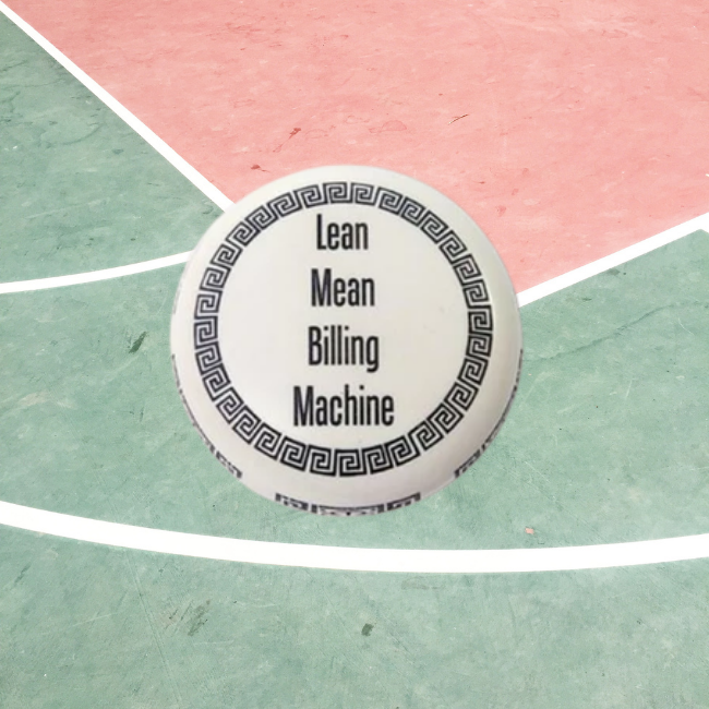 Paper Weight - Lean Mean Billing Machine