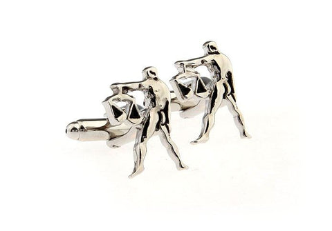 Man Holding Scales Cufflinks
