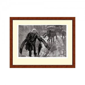Rainy Day in Carey Street (Unframed Print)