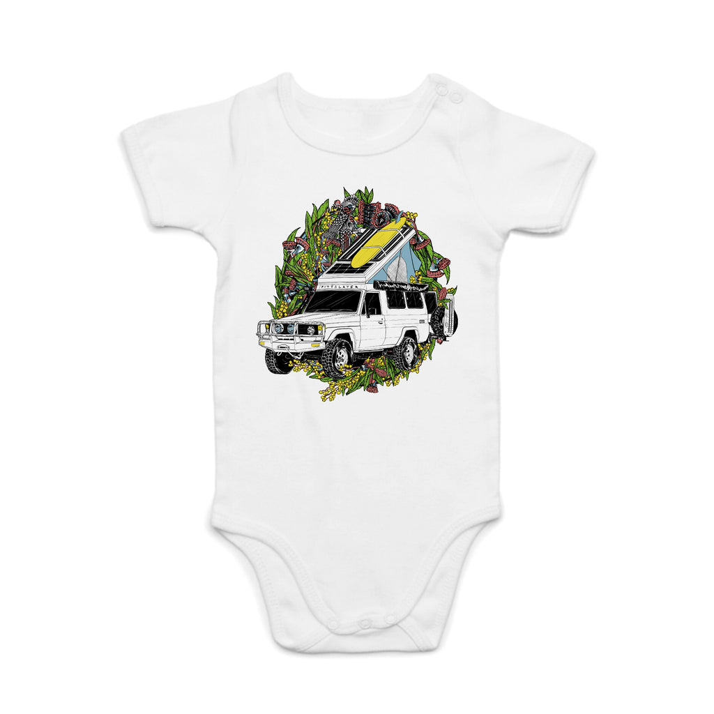 Troopy Romper - White