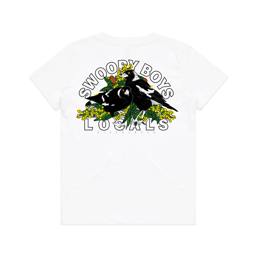 Swoopy Boys Tee Groms - White