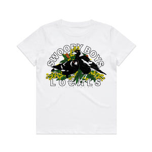 Swoopy Tee Kids - White