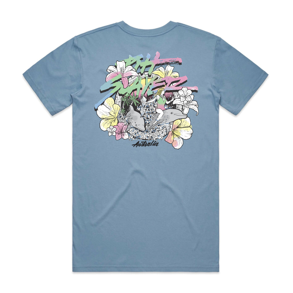 Dolphin Tee - Carolina Blue