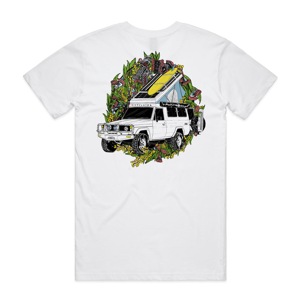 Troopy Tee - White/Yellow
