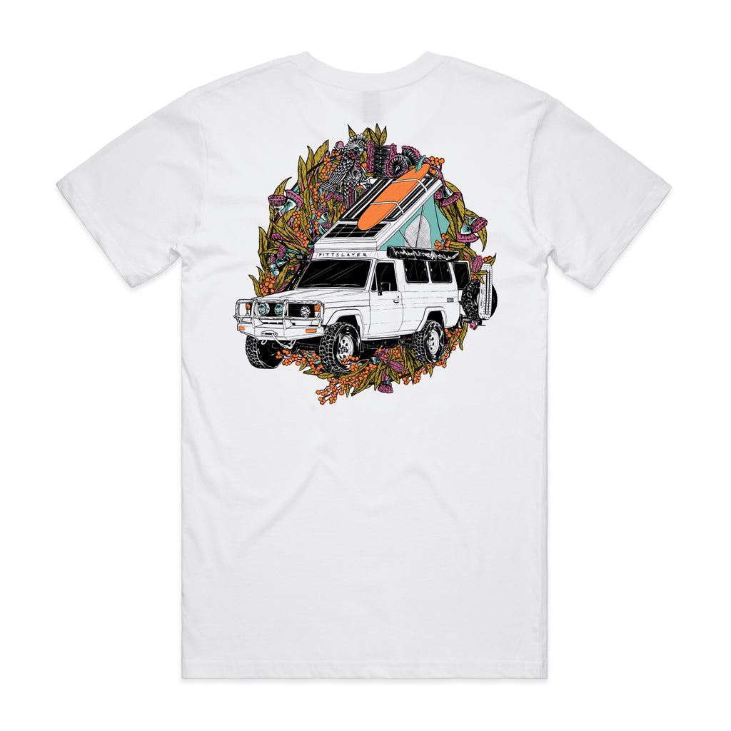 Troopy Tee - White/Orange